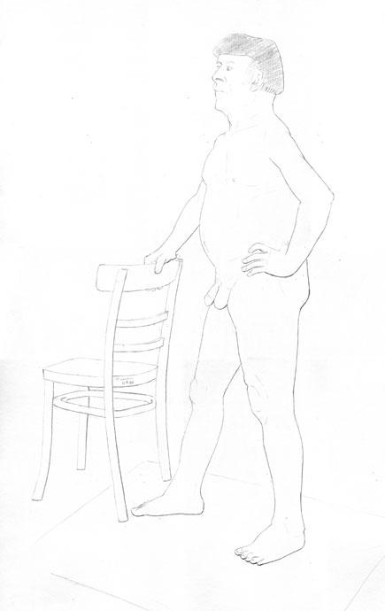 Life Drawing - Stan - Croydon Life Drawing Group - pencil
