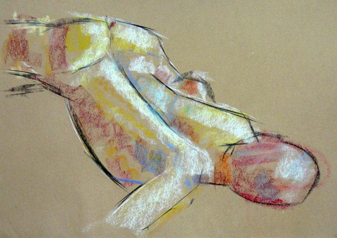 Life study - John - Croydon Life Drawing Group - pastel
