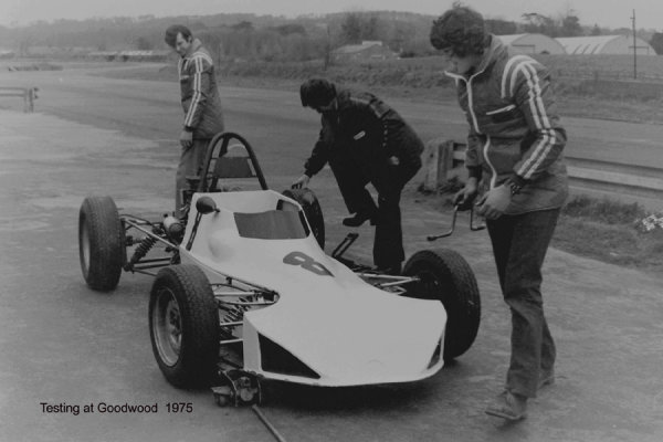 Testing at Goodwood 1975
