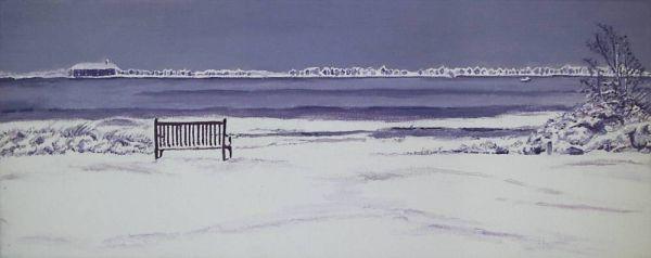 Mudeford in the Snow
