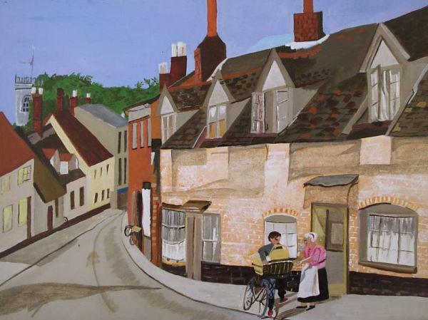 Village Street 1950's