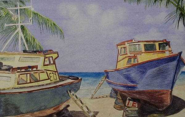 Carribean Beach Scene