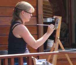 Workshop 2016 - On the decking Weavers Studio