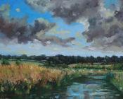 August sun & cloud,Newenden