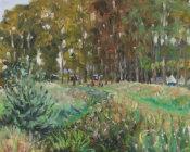 Campsite beside the river,Bodiam