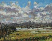 Flooded fields,Newenden