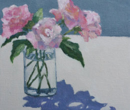 Pink roses, June sunshine.