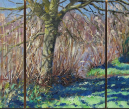 Winter Reeds & Willow (triptych)