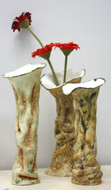 3 Tree bark Pots