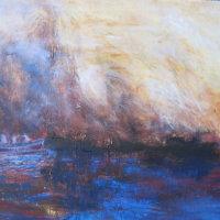 Blue Grotto Capri Oil on Canvas 100x80cms