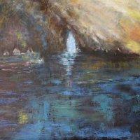 Blue Grotto Capri 80x100cms oil on canvas
