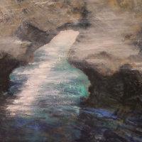 Capri the Passageway 80x100cms Oil on Canvas