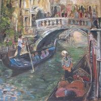 Bridge of Sighs Oil on Canvas 100x100cms