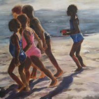 Champs Bay 1 Oil on Canvas 130x100cms