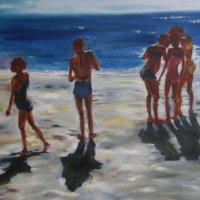 Champs Bay 2 Oil on Canvas 130x100cms