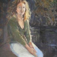 Gene Big Hair Oil on Canvas 100x100cms