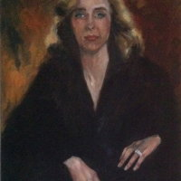 Lady with a  Ring Oil on Canvas 65x85