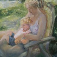 Mother 1 Oil on Canvas 100x100cms