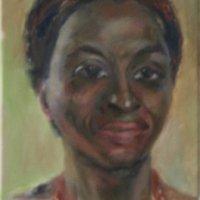 Nigerian Lady Oil on Canvas 25x36cms
