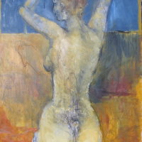 nude on textured surface Oil on Canvs 60x80cms