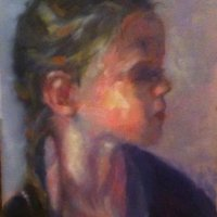 Portrait in Appreciation of Marie-Anne-Butlin Oil on Canvas 25x36cms