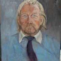 Portrait in Blue Oil on Canvas 65x80cms