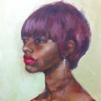 Portrait in Warm Tones Oil on Canvas 40x60cms