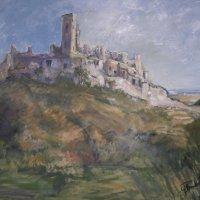 St Paul de Vence Oil on Canvas 130x100cms