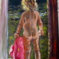 The Red Hat 2 Oil on Canvas 25x35cms