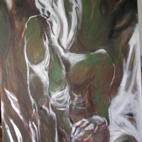 Torso in Green Oil on Canvas 112x142cms