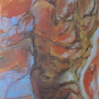 Torso in Movement Oil on Canvas 70x100cms