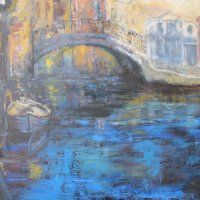 Venetian Bridge Oil on Canvas 100x80cms