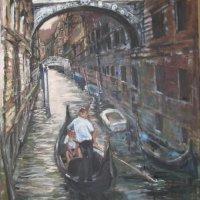 Venitian Waterway Oil on Canvas 80x100cms