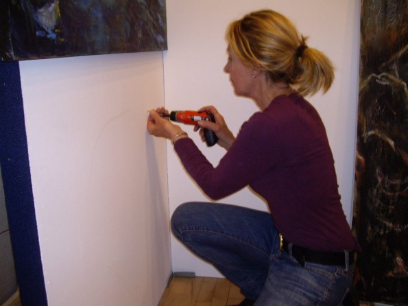 Preparing for Untitled Exhibition-Chelsea Town Hall