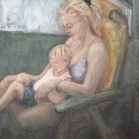 Mother 2 Oil on Canvas 100x100cms