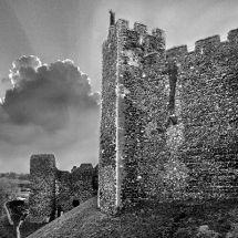 Framlingham Castle in Black and White