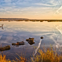 Sunrise reflections at Pegwell Bay
