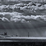 Storm clouds over Reculver