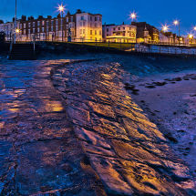 Lights reflecting on wet stone at Margate Geoff Carpenter GRCL3931 copy