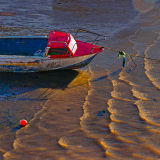 Small boat at water's edge