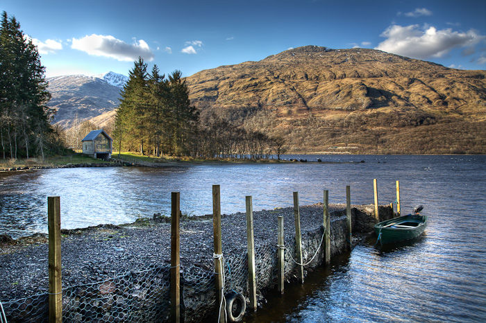 A jetty on Loch Awe
