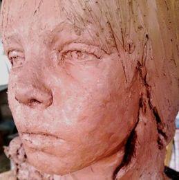 clay portrait head