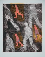 Walking Over Favourite Ground, etching and chine collé, 2n x 24 cms, 2000, edition of 20