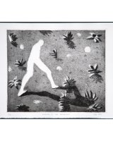 Walking in the Moonlight, etching, 24 x 29 cms,1999, edition of 12