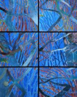 Winter Trees, 89 x 67 cms, (assembled) acrylic on box panels, 2012