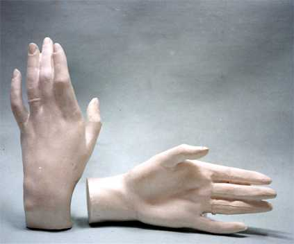 A015   Mano femm. sx. con anello