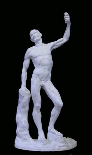 A078   Uomo anatomico con braccio alzato