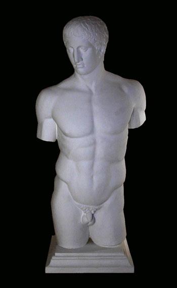 S183 Doriforo-torso Napoli Museo Nazionale Arch