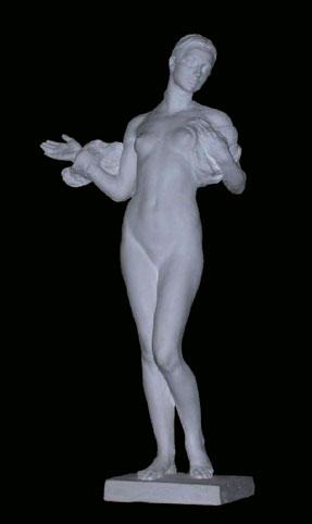 S186 Nudo femminile 1900 bozzetto