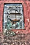 Broken door window